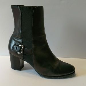 Cole Haan Black Leather Ankle Boots 8B